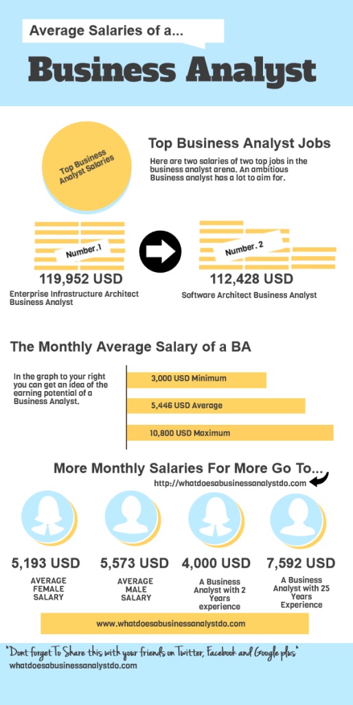 A brief look at the Business Analyst Salary infographic